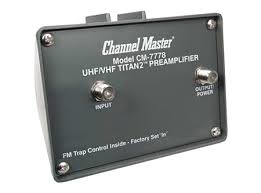 Channel Master 7778 preamplifier to amplify Antennas Direct DB4e HD TV Antenna