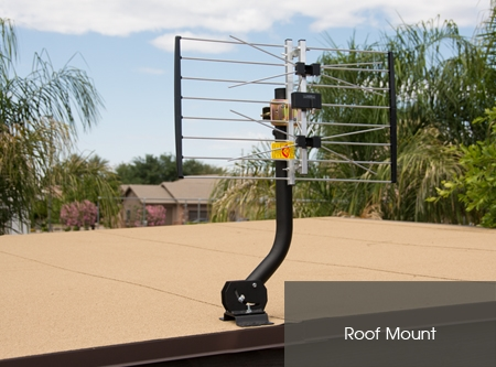 Channel Master 3090 CM3090 Universal Mount rooftop mounted