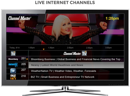 Channel Master DVR+ CM7500 with guide and streaming live internet channels