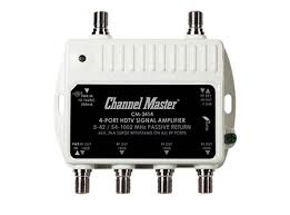 Channel MAster 3414 CM-3414 distribution amplifer drop Amp for Over the air HD Antenna signals boast