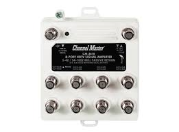 Channel Master 3418 CM-3418 8 way distribution amp, drop amp